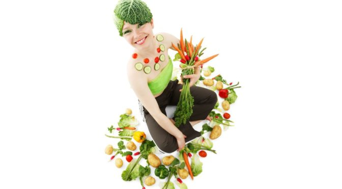 Zelenina a modelka