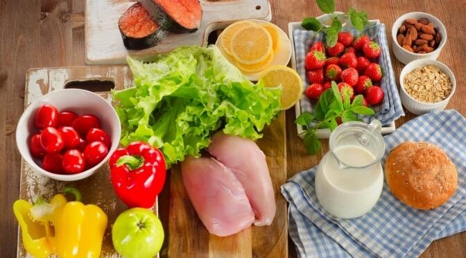 """Výběr potravin pro sestavení """"zdravého talíře"""""""